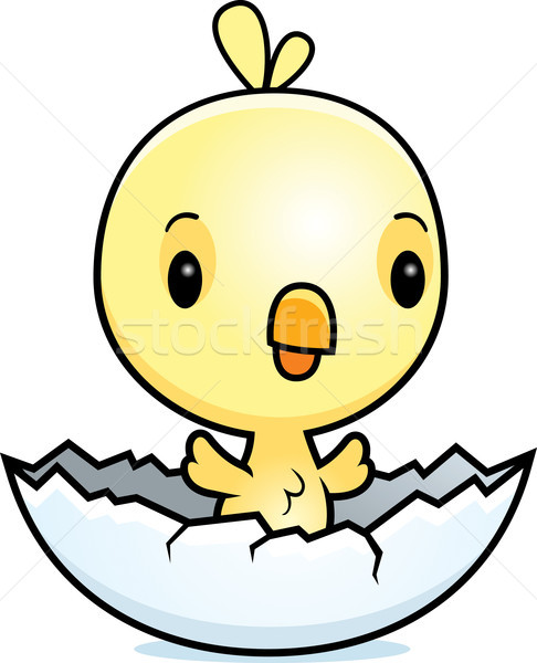 Cartoon Baby Chick Hatching Stock photo © cthoman
