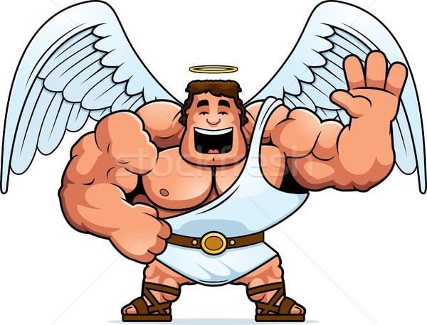 Karikatür melek örnek erkekler kişi Stok fotoğraf © cthoman