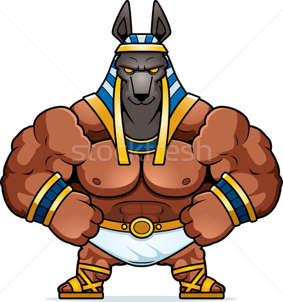 Cartoon Anubis Confident Stock photo © cthoman