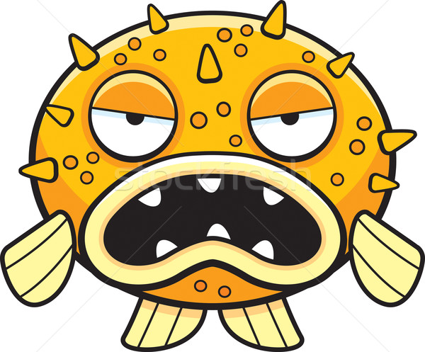 Cartoon Blowfish Stock photo © cthoman