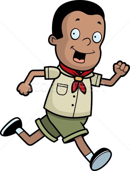 Boy Scout Running Stock photo © cthoman