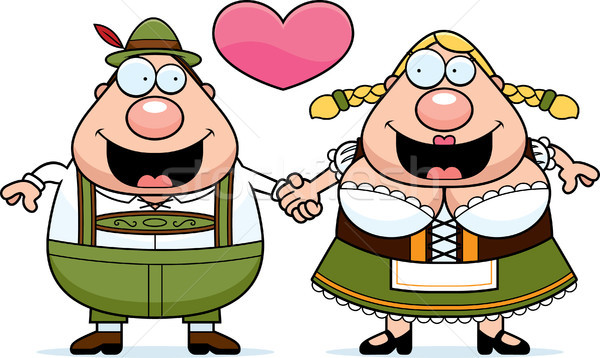 Cartoon Oktoberfest Couple Stock photo © cthoman