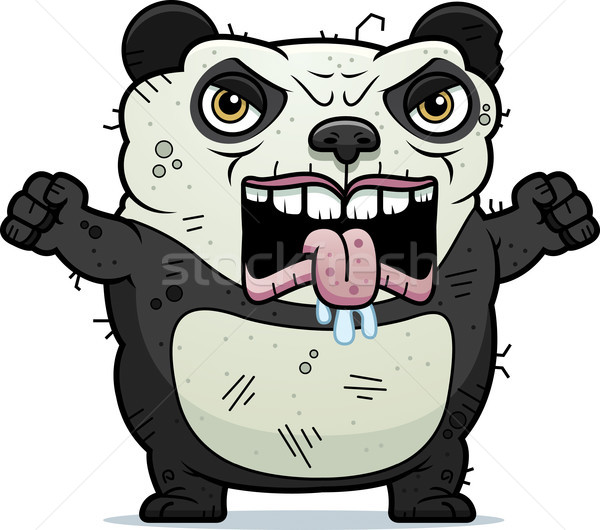 Colère laide panda cartoon illustration ours Photo stock © cthoman