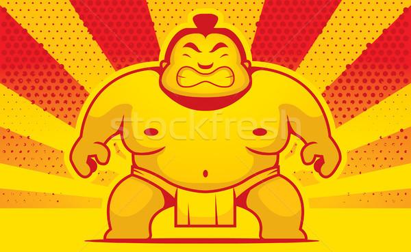 Cartoon sumo worstelaar boos macht Stockfoto © cthoman