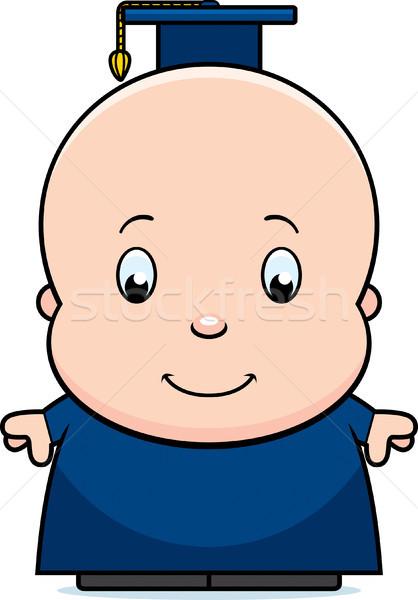Desenho animado bebê gênio ilustração professor criança Foto stock © cthoman