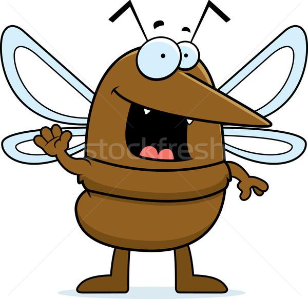 Cartoon Mosquito Waving Stock photo © cthoman