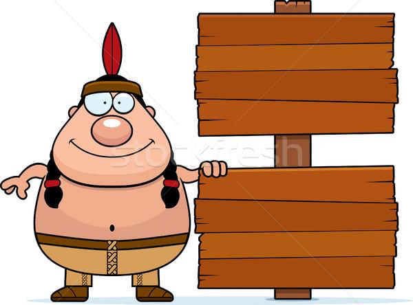 Cartoon Native American Sign Stock photo © cthoman