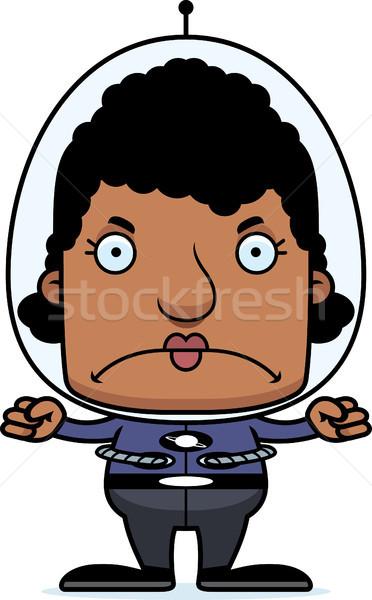 Cartoon Angry Spaceman Woman Stock photo © cthoman
