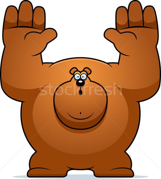 Cartoon Bear Surrender Stock photo © cthoman