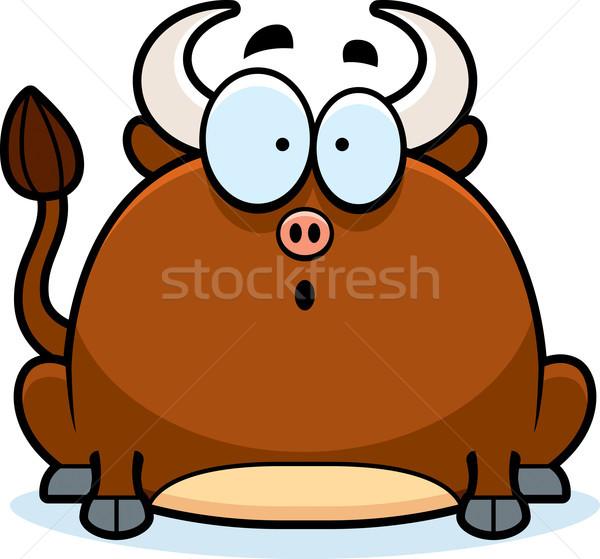Surprised Little Bull Stock photo © cthoman