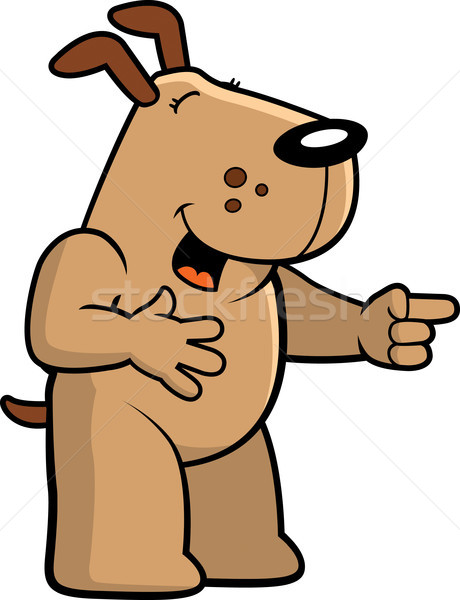 Dog Laughing Stock photo © cthoman