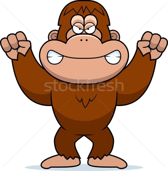 Angry Cartoon Bigfoot Stock photo © cthoman
