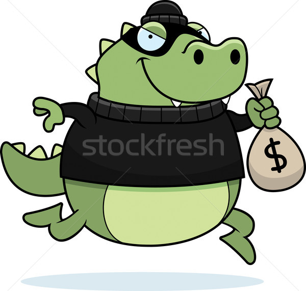 Cartoon Lizard Burglar Stock photo © cthoman