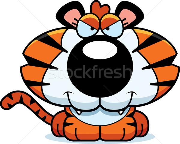 Cartoon Sly Tiger Cub Stock photo © cthoman