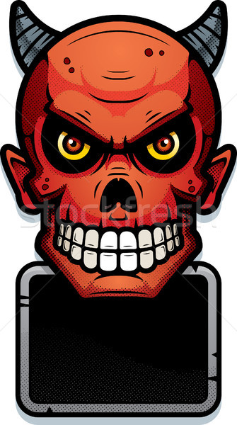 Devil Sign Illustration Stock photo © cthoman