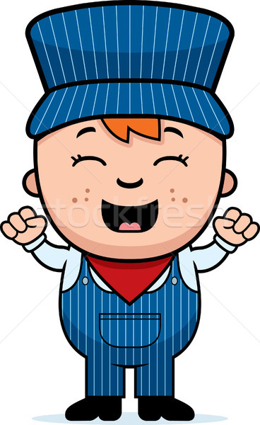 Train Conductor Excited Stock photo © cthoman