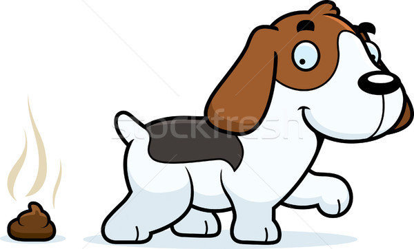Cartoon Beagle Poop Stock photo © cthoman