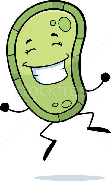 Bacilus ugrik boldog rajz mosolyog egészség Stock fotó © cthoman