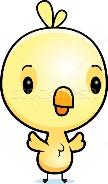 Cartoon bebé Chick ilustración pie pollo Foto stock © cthoman