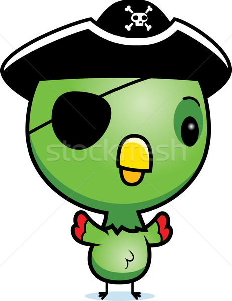 Cartoon ребенка Parrot пиратских иллюстрация Постоянный Сток-фото © cthoman