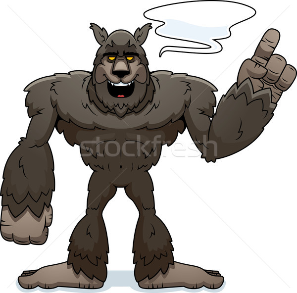 Cartoon оборотень говорить иллюстрация животного Сток-фото © cthoman