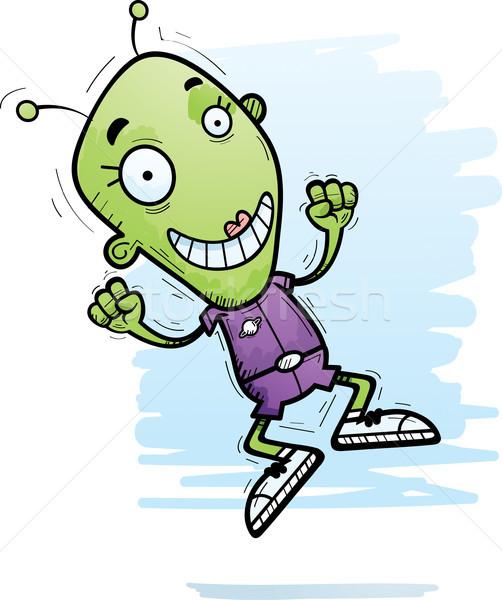 Cartoon exotiques femme sautant illustration fille Photo stock © cthoman