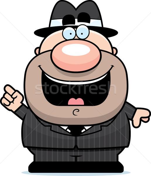 Cartoon Mobster Idea Stock photo © cthoman