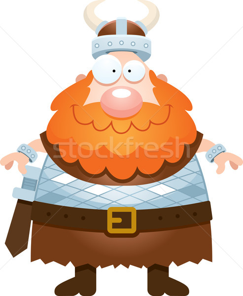 Happy Cartoon Viking Stock photo © cthoman