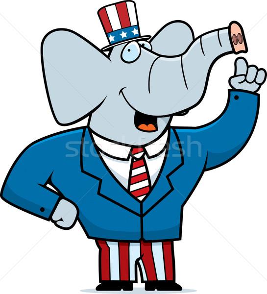 Patriotic Elephant Stock photo © cthoman
