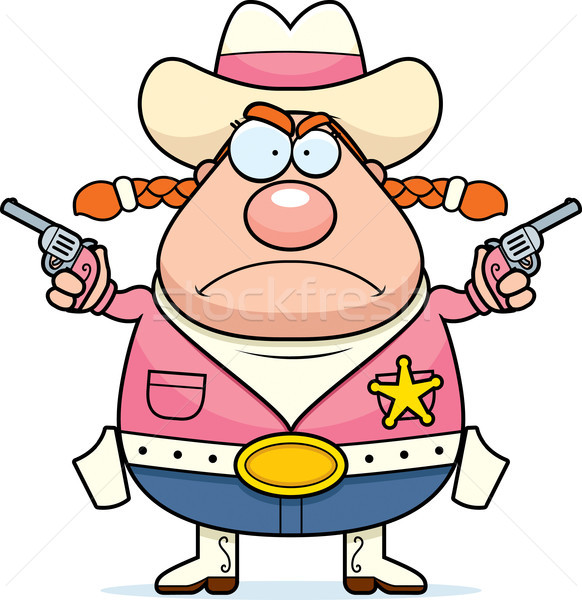 Angry Sheriff Stock photo © cthoman