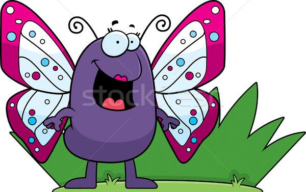 Cartoon Butterfly Grass Stock photo © cthoman