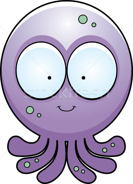 Cartoon Octopus Smiling Stock photo © cthoman