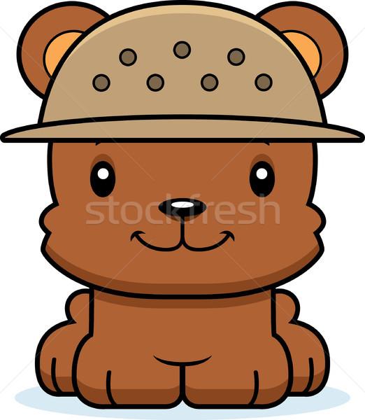 Cartoon Smiling Zookeeper Bear Stock photo © cthoman