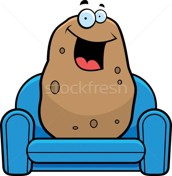 Rajz kanapé krumpli illusztráció grafikus Stock fotó © cthoman