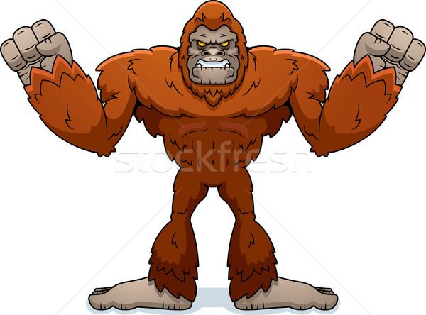 Cartoon Sasquatch Angry Stock photo © cthoman