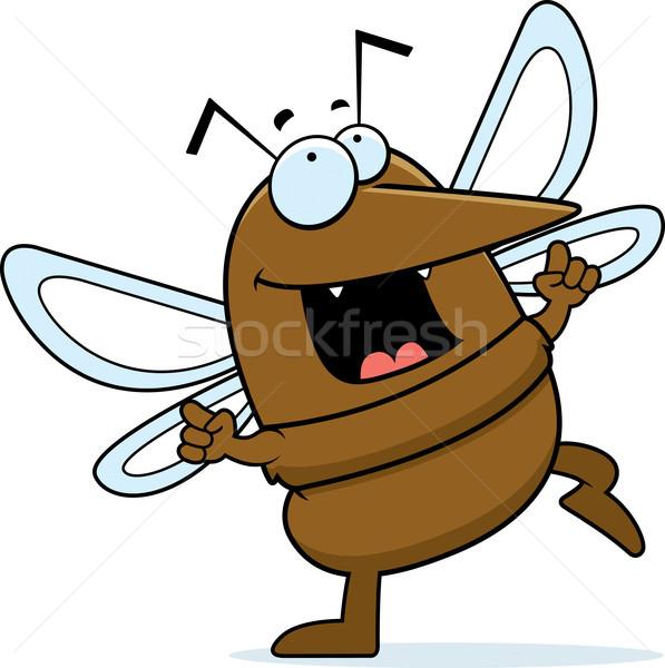 Mosquitos baile feliz Cartoon sonriendo animales Foto stock © cthoman