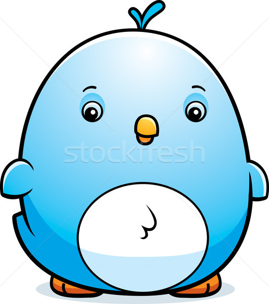 Cartoon Baby Bluebird Stock photo © cthoman