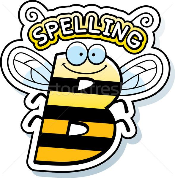 Cartoon правописание Bee текста иллюстрация обучения Сток-фото © cthoman