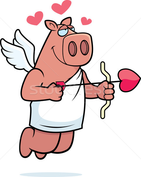 Cupid Pig Stock photo © cthoman