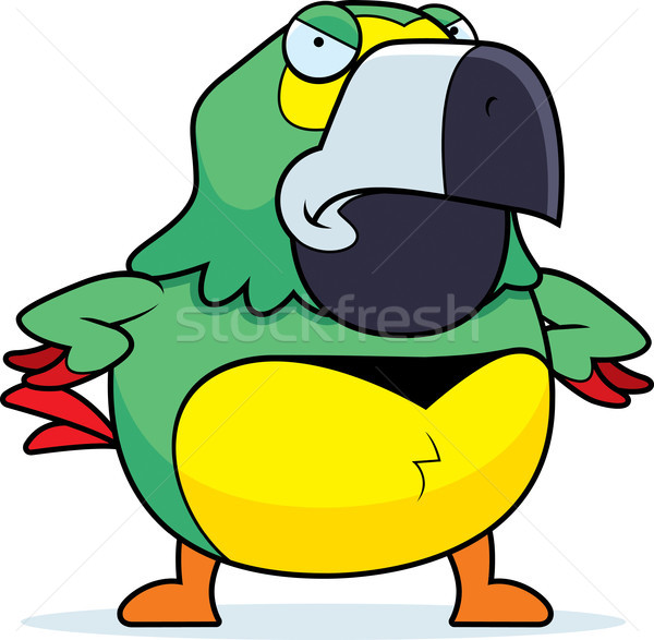 Angry Cartoon Parrot Stock photo © cthoman