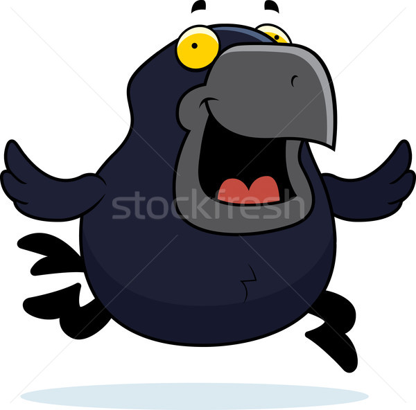 Cartoon Crow Running Stock photo © cthoman