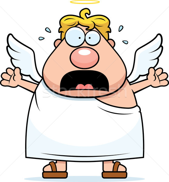 Cartoon Angel Panicking Stock photo © cthoman