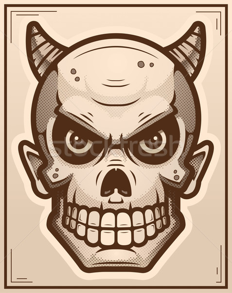 Diable affiche illustration fond graphique cartoon Photo stock © cthoman