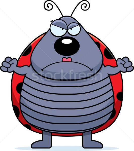 öfkeli uğur böceği karikatür bakıyor Stok fotoğraf © cthoman