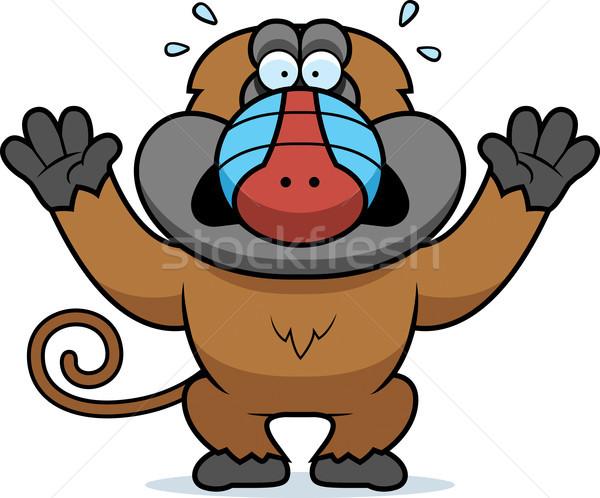 Cartoon Baboon Panicking Stock photo © cthoman