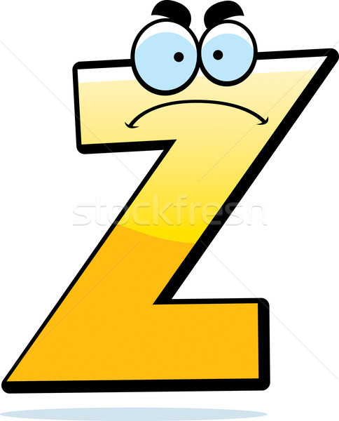 Angry Cartoon Letter Z Stock photo © cthoman
