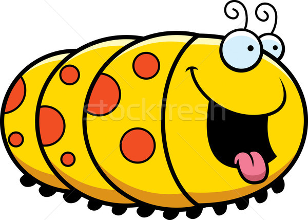 Faim cartoon Caterpillar illustration regarder heureux Photo stock © cthoman