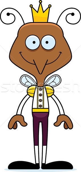 Desenho animado sorridente príncipe mosquito feliz coroa Foto stock © cthoman