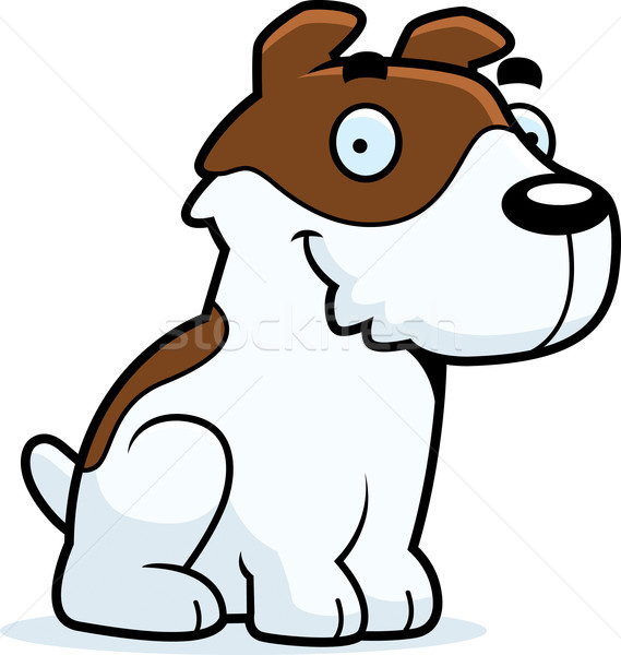 Cartoon jack russell terrier séance illustration graphique animal Photo stock © cthoman