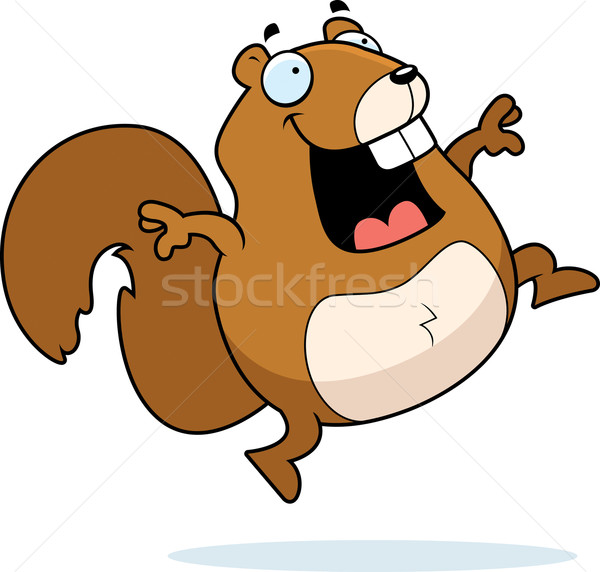Squirrel Jumping Stock photo © cthoman